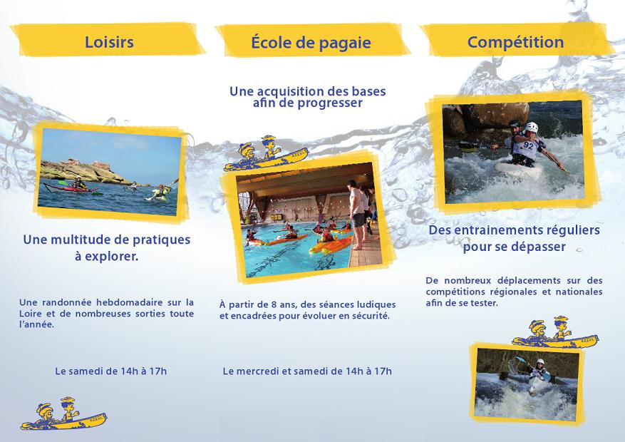 Canoe Kayak en Loisirs, Ecole de pagaie et Compétition